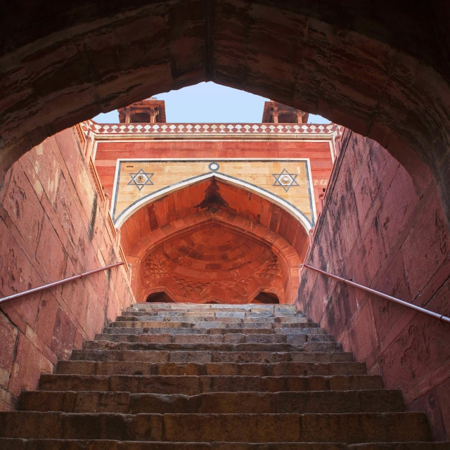 """Stairs of Humayun's Tomb"" stock image"