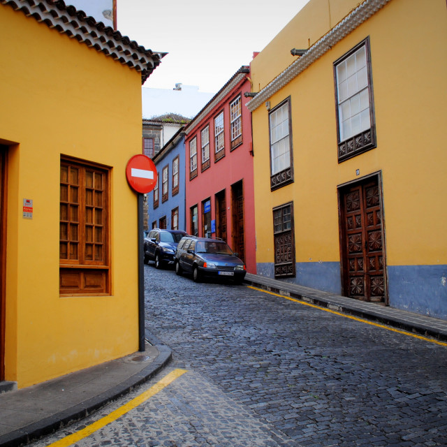 """Streets of La Orotava #1"" stock image"