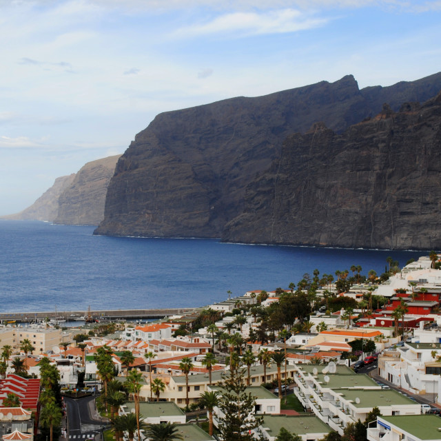 """View at Los Gigantes"" stock image"