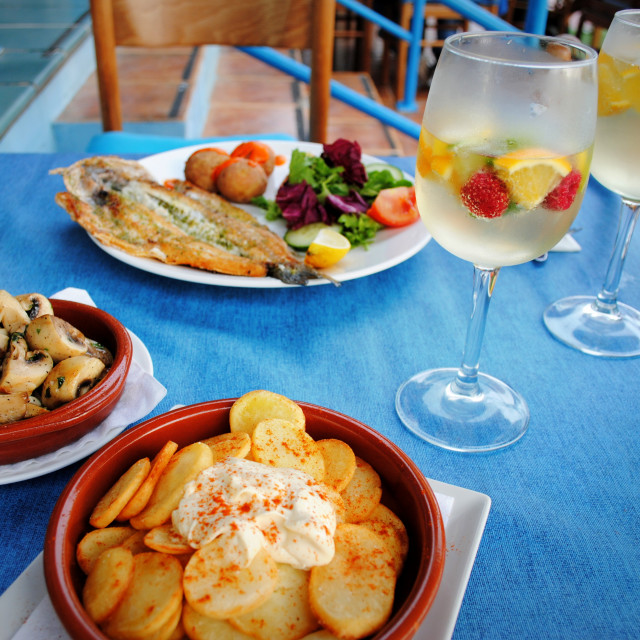 """Canarian Lunch"" stock image"