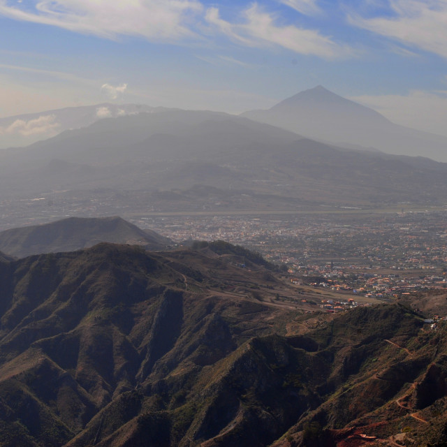 """View at El Teide from Anaga"" stock image"