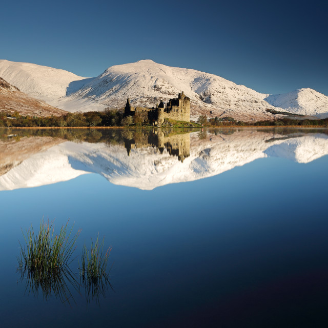 """Kilchurn Castle Reflection"" stock image"