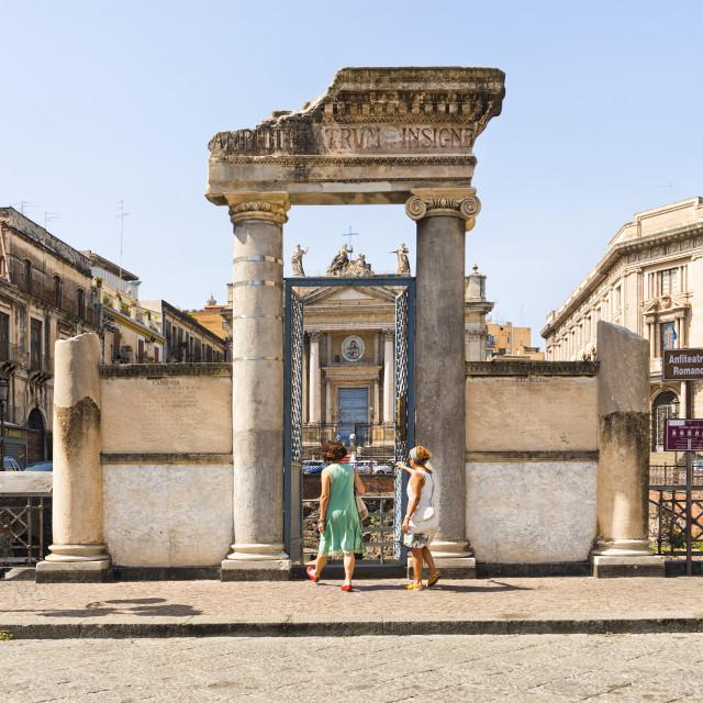 """Roman Ampitheatre in Palermo"" stock image"