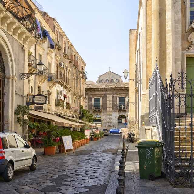 """Streets of Palermo"" stock image"