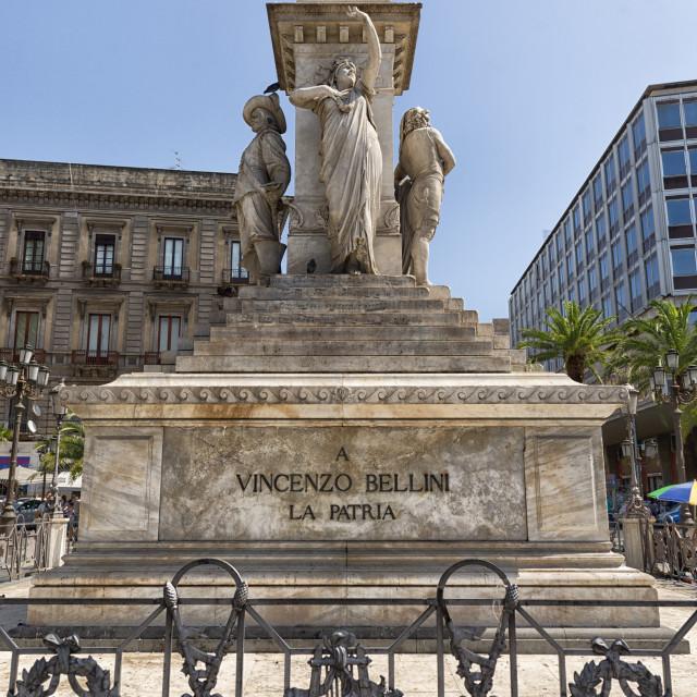 """Monument of Vioncenzo Bellini in Palermo, Sicily"" stock image"
