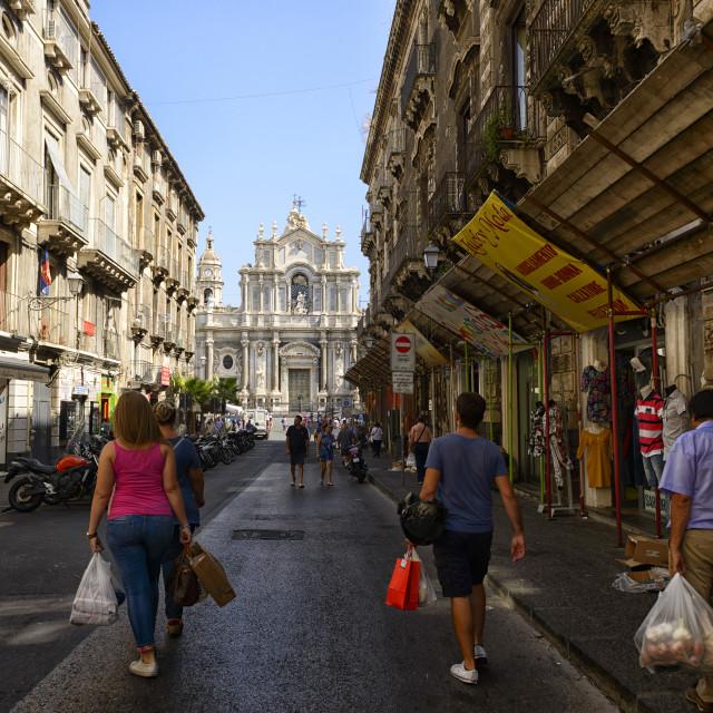 """""""Street scene in Palermo"""" stock image"""