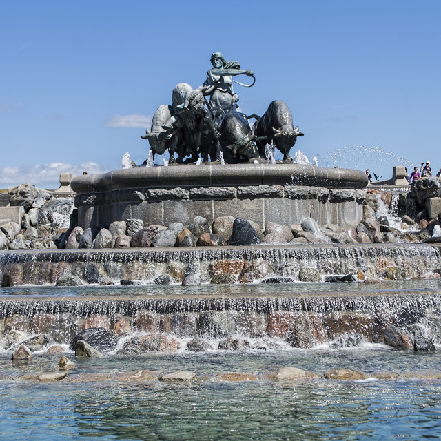 """""""The Gefion Fountain"""" stock image"""