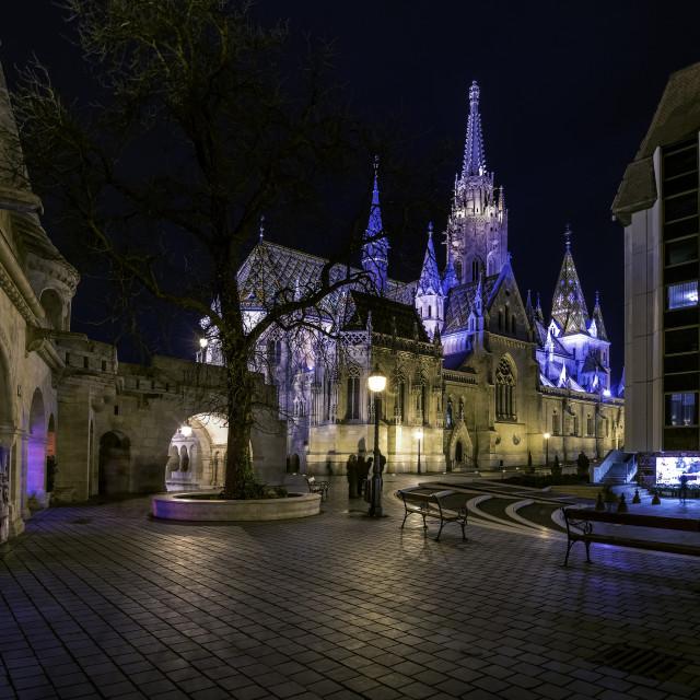 """Matthias church in Fishermans Bastion Budapest"" stock image"