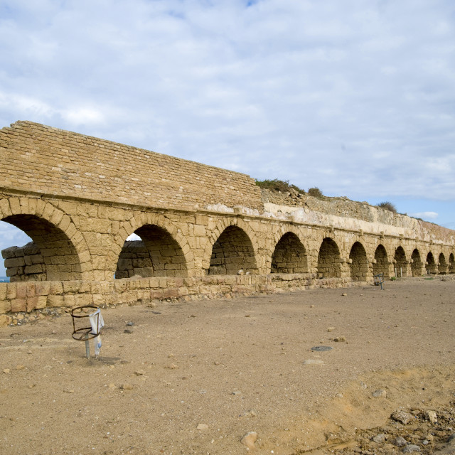 """Roman Aqueduct, Israel"" stock image"