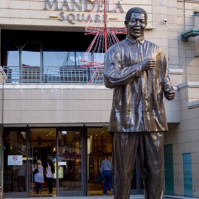 """Statue of Nelson Mandela"" stock image"
