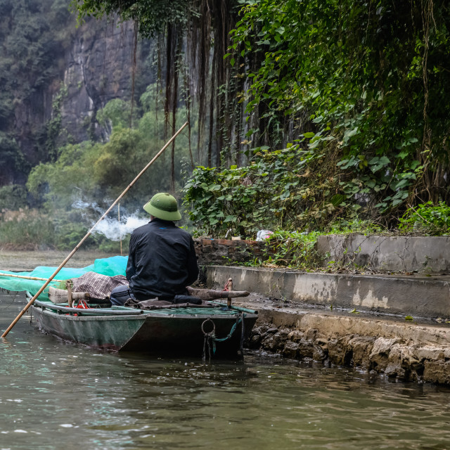 """Vietnamese fisherman"" stock image"