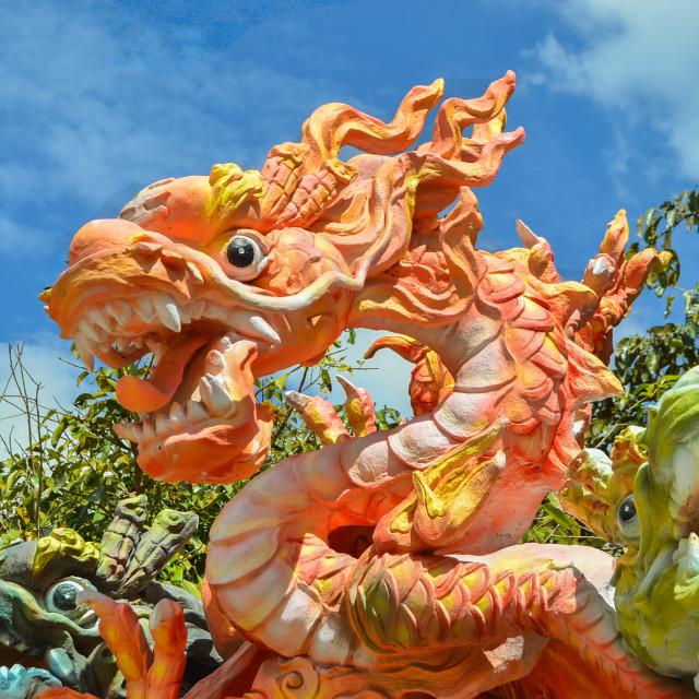 """Dalat Red Dragon"" stock image"
