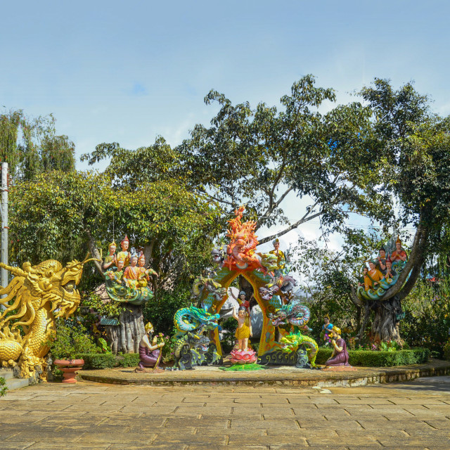 """Dalat Temple Garden"" stock image"