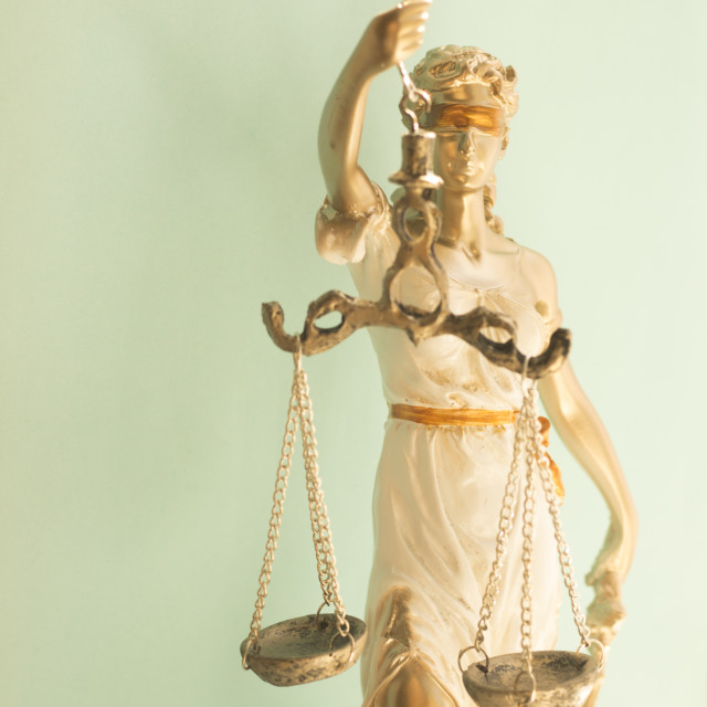 """Law firm legal statue Themis"" stock image"