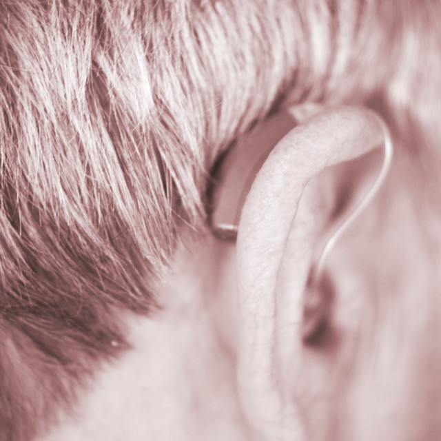 """Digital hearing aid ear"" stock image"