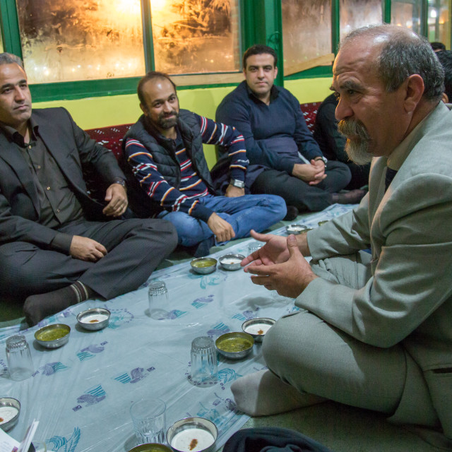"""Iranian Shiite Muslim Men Having A Nazri Charity Diner During Muharram Before..."" stock image"