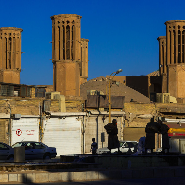 """Wind Towers Used As A Natural Cooling System In Iranian Traditional..."" stock image"
