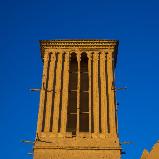 """""""Wind Towers Used As A Natural Cooling System In Iranian Traditional..."""" stock image"""