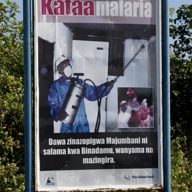 """Malaria pannel, Zanzibar, Tanzania"" stock image"