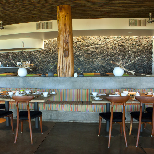 """Restaurant In Hanga Roa Hotel, Chile"" stock image"