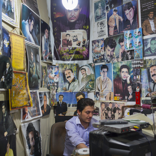"""""""Man Selling Cd And Dvd, Kermanshah, Iran"""" stock image"""