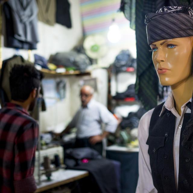 """Clothes Bazaar, Kermanshah, Iran"" stock image"