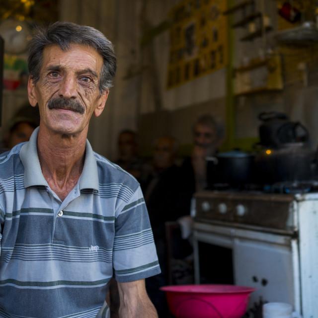 """""""Old Man, Kermanshah, Iran"""" stock image"""