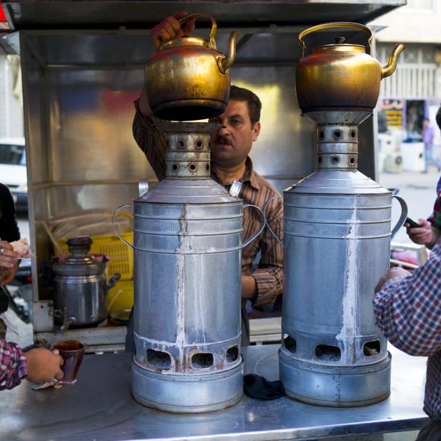 """Tea Shop, Marivan, Iran"" stock image"