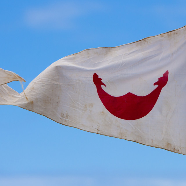 """Rapanui Flag, Easter Island, Chile"" stock image"