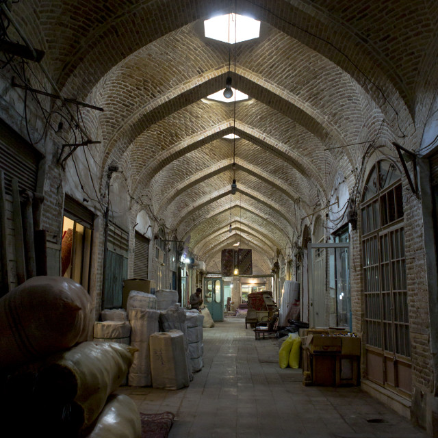 """Inside The Old Bazaar, Zanjan, Iran"" stock image"