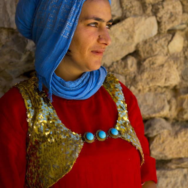 """Kurdish Young Woman, Palangan, Iran"" stock image"