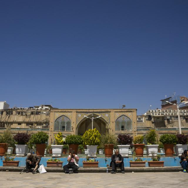 """The imam khomeini mosque courtyard, Shemiranat county, Tehran, Iran"" stock image"
