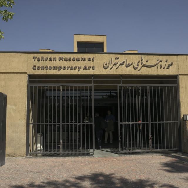 """Tehran museum of contemporary art, Shemiranat county, Tehran, Iran"" stock image"
