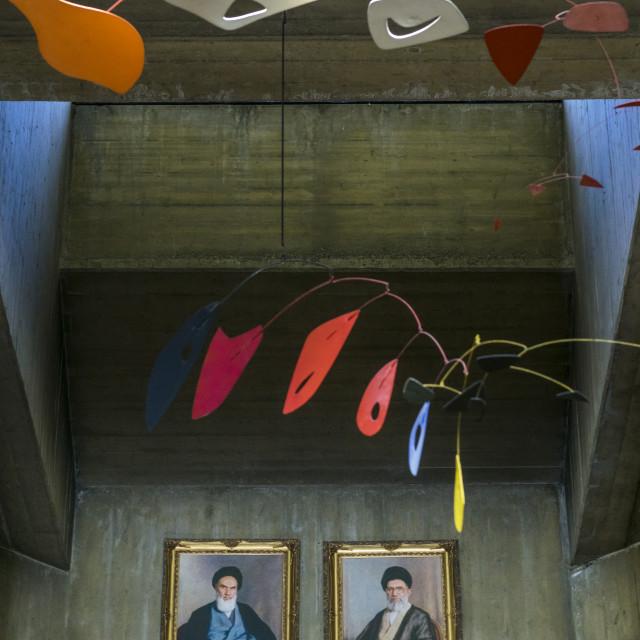 """Alexander calder mobile sculpture at the tehran museum of contemporary art,..."" stock image"