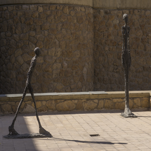 """""""Sculptures by giacometti at the tehran museum of contemporary art, Shemiranat..."""" stock image"""