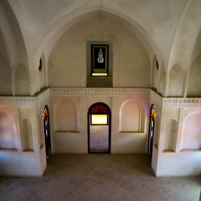 """Tabatabaei historical house lower ground, Isfahan province, Kashan, Iran"" stock image"