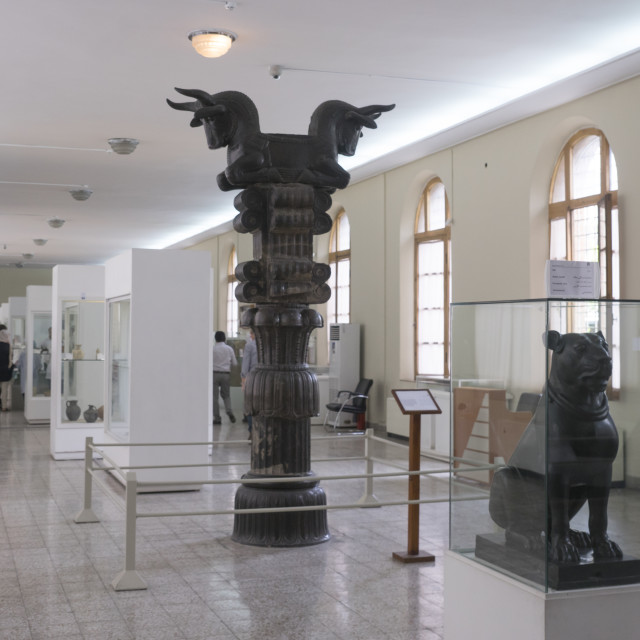 """""""Pieces from the achaemenid collection in the national museum, Shemiranat..."""" stock image"""