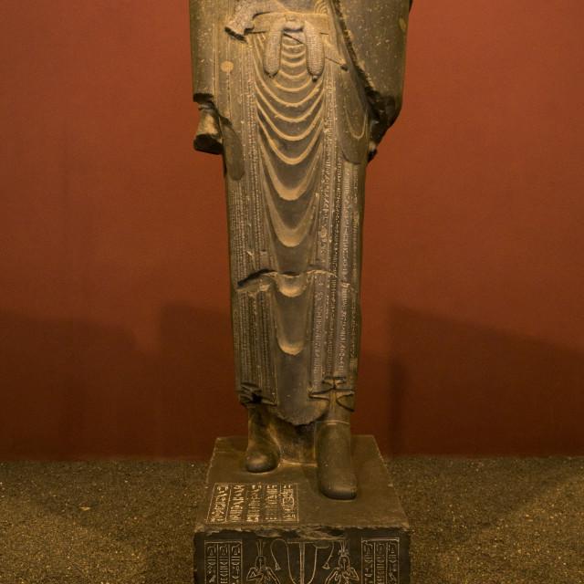 """Statue of darius in the national museum, Shemiranat county, Tehran, Iran"" stock image"