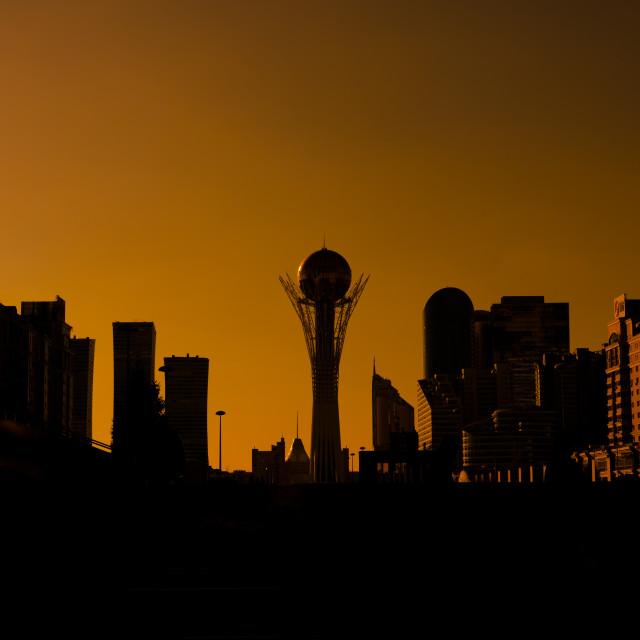 """Astana Skyline, Kazakhstan"" stock image"