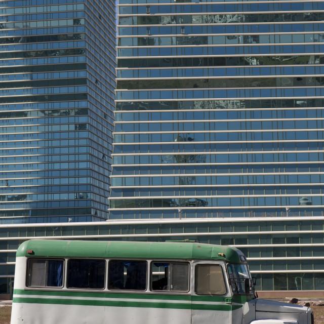 """Old Bus In Astana, Kazakhstan"" stock image"