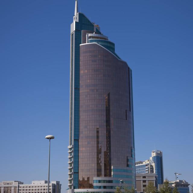 """""""The Cigarette Lighter Building In Astana, Kazakhstan"""" stock image"""