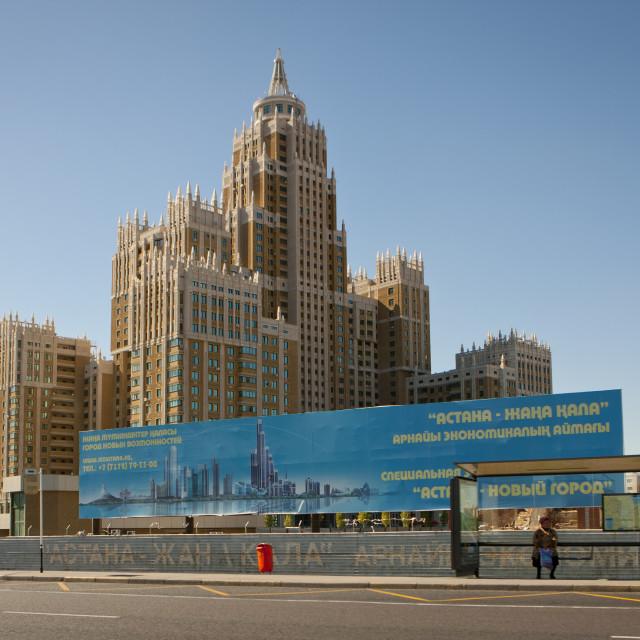 """The Triumph Building In Astana, Kazakhstan"" stock image"