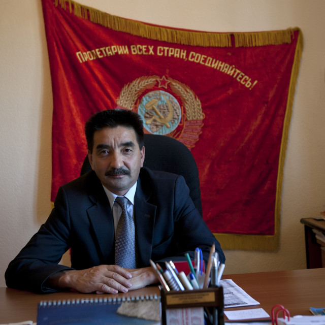 """Mister Zhambyl Member Of The Communist Party, Astana, Kazakhstan"" stock image"