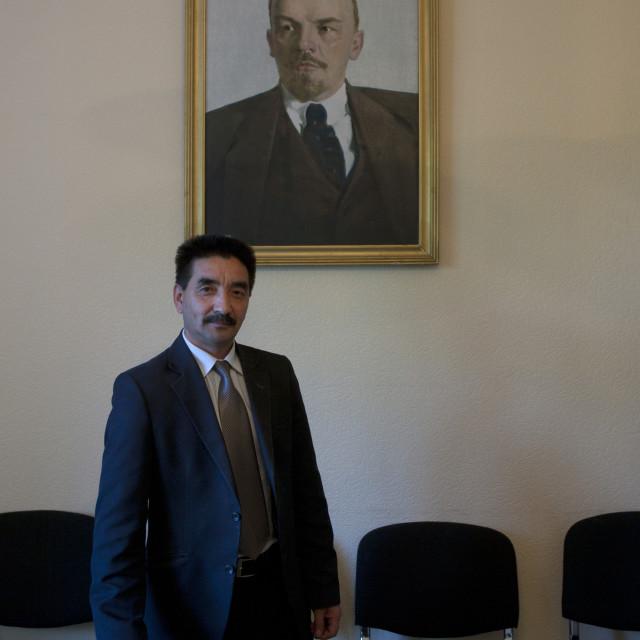 """Mister Zhambyl Member Of The Communist Party, Astana, Kazakhstan"" stock image"