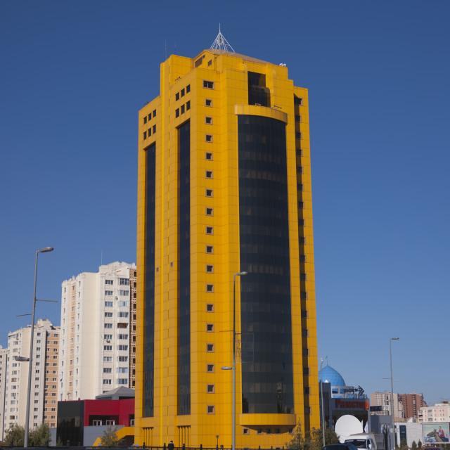 """The Banana Building, Astana, Kazakhstan"" stock image"