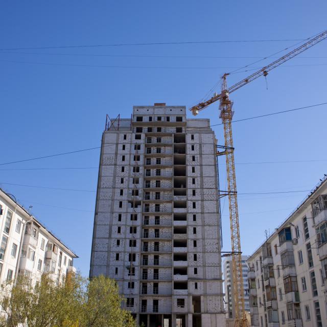 """Buildings In Construction, Astana, Kazakhstan"" stock image"