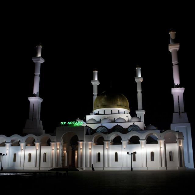 """The Nur Astana Mosque, Astana, Kazakhstan"" stock image"