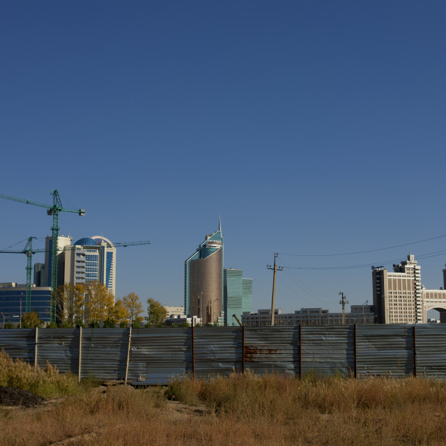 """Astana Seen From The Suburb, Kazakhstan"" stock image"