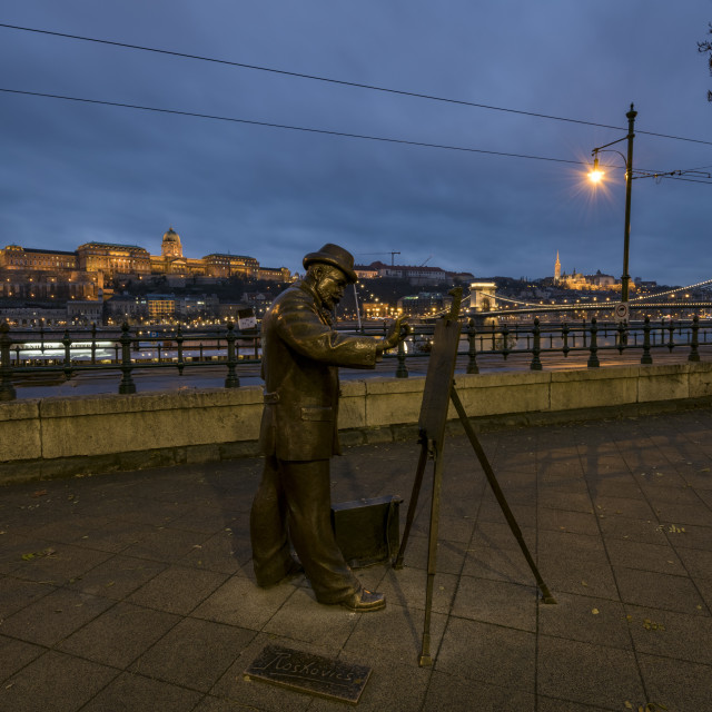 """""""The statue of the famous Hungarian artist Roscovics"""" stock image"""