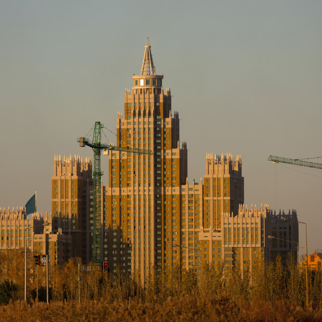 """The Triumph Building In Astana, Kazakhstan"" stock image"